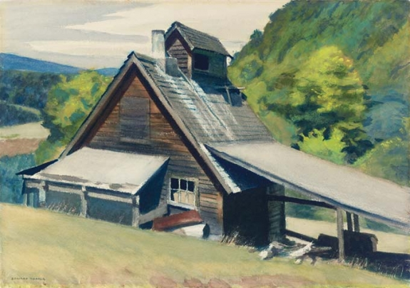 Edward Hopper's 'Vermont Sugar House,' 1938.