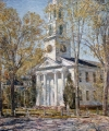 Frederick Childe Hassam (1859-1935) Church at Old Lyme, 1906, Oil on canvas, 30 1/8 x 25 1/4 inches