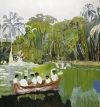 Peter Doig's Red Boat (est. £1.4-£1.8M) sold for £6.2M - the Doig was bought in 2004 for $162,000