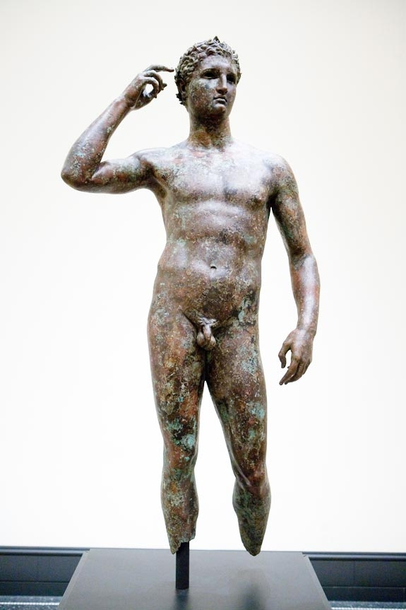 'Victorious Youth' at the Getty Villa Museum in Malibu, Calif.