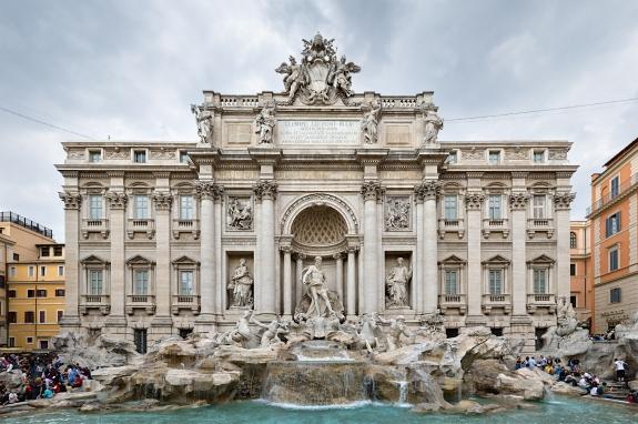 The Trevi Fountain, Rome.