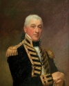 Gilbert Stuart (1755–1828) Admiral Sir Isaac Coffin (1759–1839), circa 1810, Oil on scored panel, 33 x 26-1/2 inches, Gift in memory of Tucker Gosnell, with a partial gift of Catherine C. Lastavica, M.D. (2005.4.1)