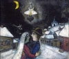 In the Night, 1943. Marc Chagall. Oil on canvas, 18 1/2 x 20 5/8 inches (47 x 52.4 cm).