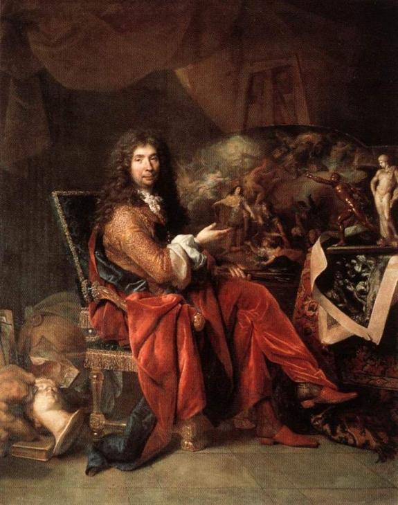 Charles Le Brun by Nicolas de Largilliere.