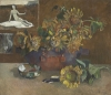 """Nature morte a 'L'Esperance'"" by Paul Gauguin was included in the auction of 78 Impressionist and modern works at Christie's International in London on Feb. 9. The canvas, painted by Gauguin in Tahiti as a tribute to his friend Vincent van Gogh, was expected to sell for between 7 million pounds and 10 million pounds and failed to find a buyer"