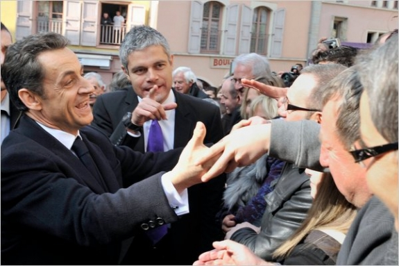President Nicolas Sarkozy arriving in Le Puy-en-Velay, in central France, on Thursday, where he gave a speech in praise of France's Christian heritage.