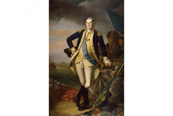 "Charles Wilson Peale's ""George Washington after the Battle of Princeton."""