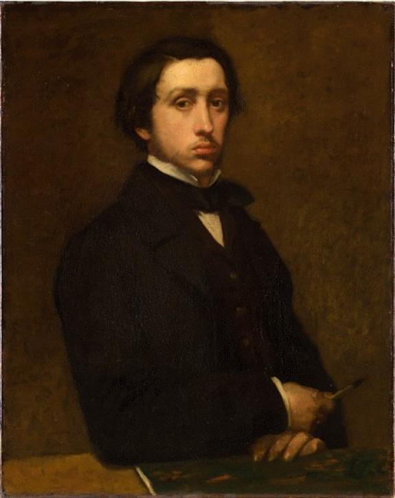 A self-portrait by Edgar Degas.