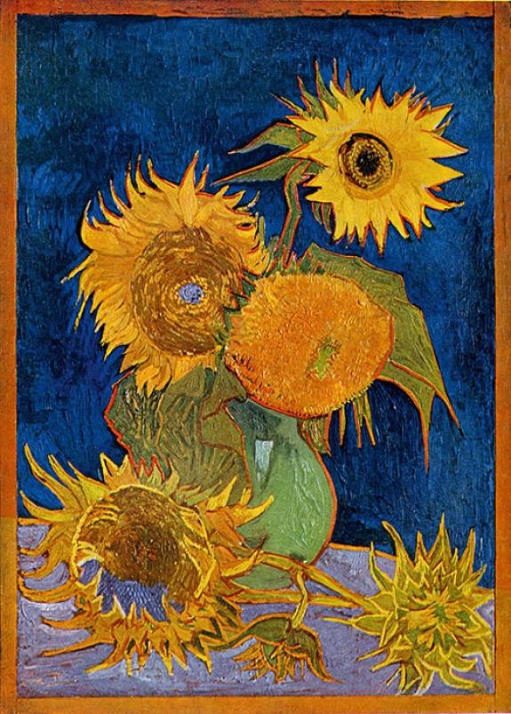 Vincent Van Gogh's 'Six Sunflowers,' 1888.