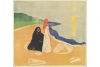 Edvard Munch's 'Two Women on the Shore,' 1898 (printed circa 1917 or later).