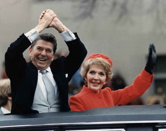 Ronald and Nancy Reagan.