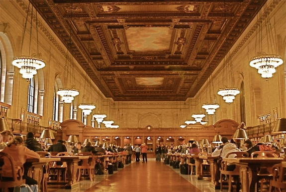 The New York Public Library's Rose Main Reading Room.