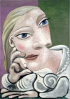 """""""Marie-Therese accoudee"""" by Pablo Picasso, is part of """"Picasso and Marie-Therese: L'Amour Fou"""" on view at Gagosian Gallery through June 25."""