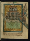 A scene of Noah&#039;s Ark from a manuscript of Bible pictures by W. de Brailes, 13th century. 