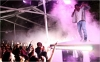 Kanye West performs at the Museum of Modern Art's Party in the Garden on Tuesday night.