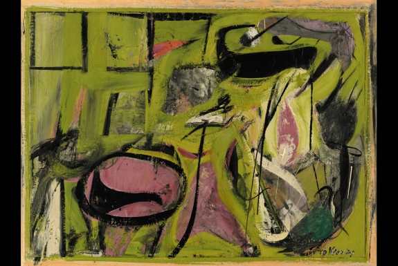 Willem de Kooning, Event in a Barn. Painted in 1947. Oil on canvas, 61 x 91.4 cm. Est. $5/7 million.