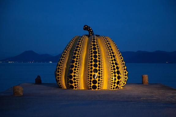 A pumpkin by Yayoi Kusama.