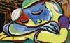 Pablo Picasso's 1935 painting Jeune fille endormie