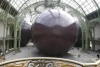 Monster: Leviathan, by British artist Anish Kapoor, is unveiled at the cavernous Grand Palais, in Paris, ahead of the Monumenta exhibition which opens tomorrow