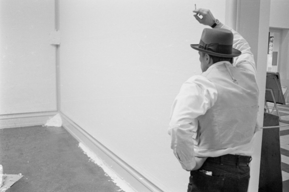 Joseph Beuys with Fettecke, 1969 'When Attitudes Become Form' Kunsthalle Bern, 1969.
