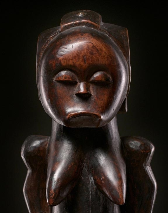 Fang female reliquary figure, Gabon culture, to be offered by Pace Primitive, New York.