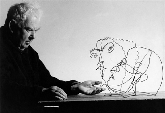 Alexander Calder with Edgar Varese (c. 1930) and Unknown man (1929), Sache, 1963 Ugo Mulas (1928-1973) Gelatin silver print, 1963