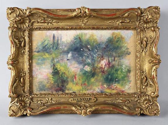 Pierre-Auguste Renoir's 'Paysage bords de Seine (On the Shore of the Seine),' 1879.
