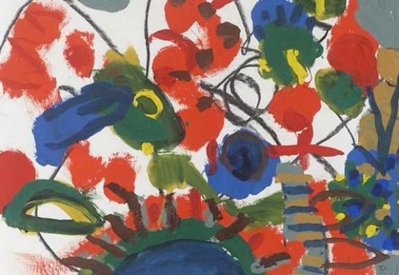 Roger Hilton 'Foliage with Orange Caterpillar', 1974