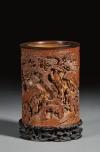 Bamboo brush pot, $539,500 (est. $800/1,200). Skinner.