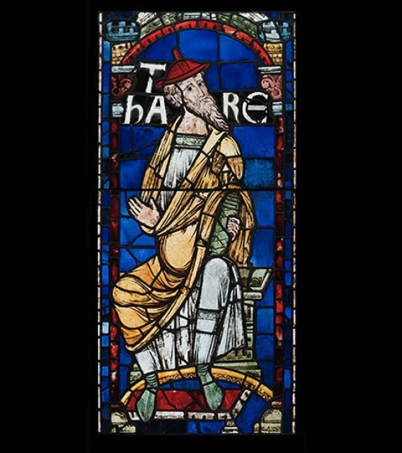 Thara, from the Ancestors of Christ Windows, Canterbury Cathedral, England, 1178-80.