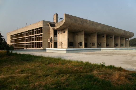 The Palace of Assembly in Chandigarh, India.