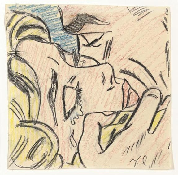 Roy Lichtenstein, Drawing for Kiss V, 1964. Estimate: $800,000 – 1,200,000