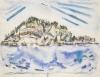 John Marin, Island (Ship's Stern), 1934, watercolor on paper.