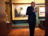 "Jack Warner turns away after a last look at Asher B. Durand's ""Progress (The Advance of Civilization),"" before it was taken down and wrapped for shipping, shown below, at the Westervelt-Warner Museum of American Art in Tuscaloosa on Thursday. Warner's wife, Susan Austin, said the painting was the heart of her husband's collection."