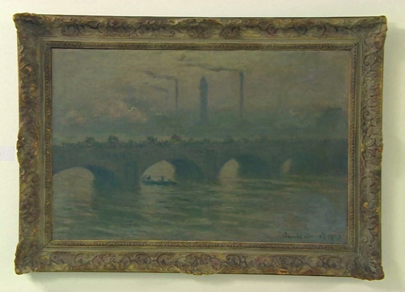 Claude Monet's painting of Waterloo Bridge, London, 1903.
