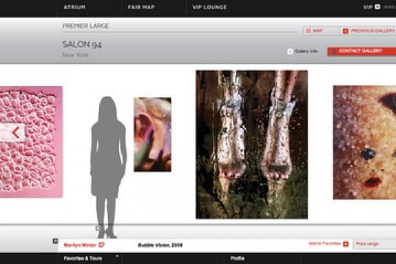 Screen shot from the VIP Art Fair