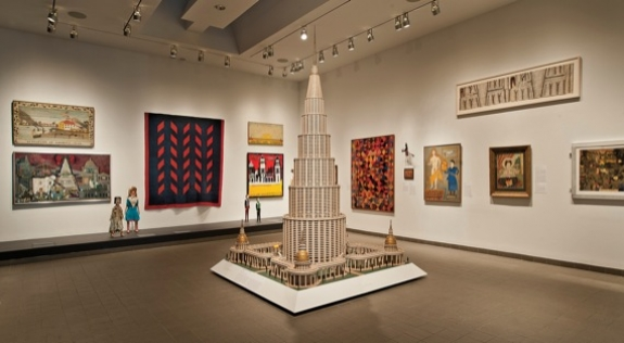 A portion of the American Folk Art Museum's collection.