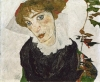 """Portrait of Wally"" (1912) by Egon Schiele. The Leopold Museum in Vienna paid $19 million in a settlement, ending a decades-long dispute between the museum and the heirs of Jewish art dealer, Lea Bondi Jaray."