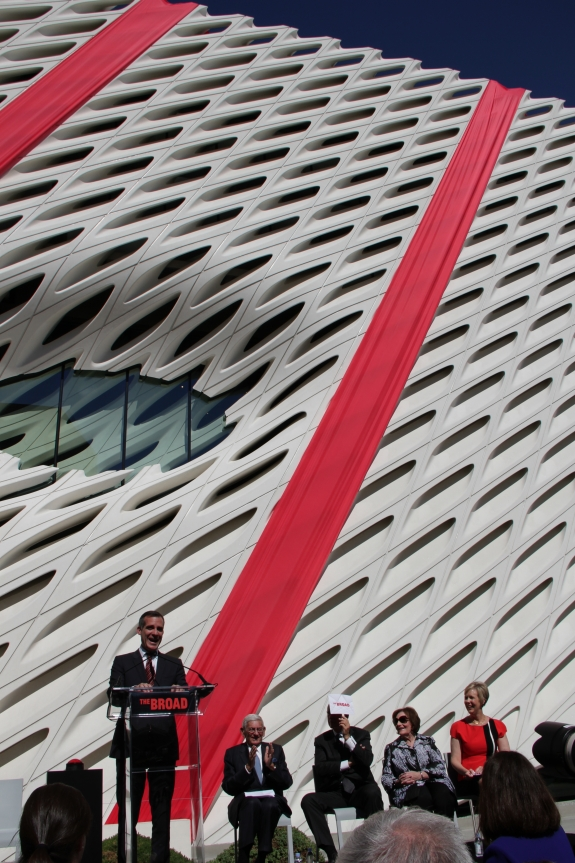 The opening of The Broad earlier this year.