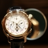A tourbillon wristwatch by Patek Philippe.