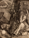 Albrecht Dürer, Melencolia I (detail), 1514. Engraving. Harvard Art Museums/Fogg Museum, Gift of William Gray from the collection of Francis Calley Gray, G1098.